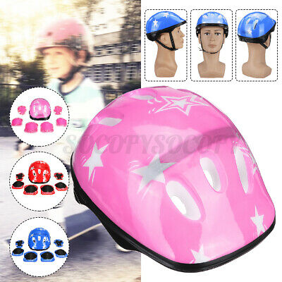 US Kids Boys Girls Safety Roller Skating Bike Helmet Knee El