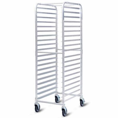 20 Sheet Aluminum Bun Pan Bakery Rack Rolling Kitchen Commercial 26 X 20 X 70