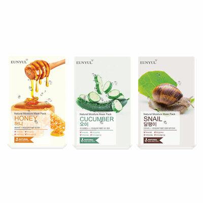 Eunyul Natural Mask Pack 3P Facial Sheet Honey Skin Care Moisture Korea Cosmetic