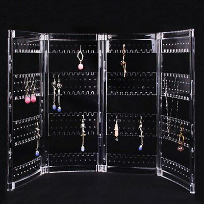 Foldable Acrylic Earring Screen Stand Holder Hold Up To 144 Pairs Of Earrings