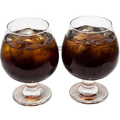 Set 6 x 39cl Vintage Whisky Cognac Brandy Balloons Glasses Tumblers Gin Spirit