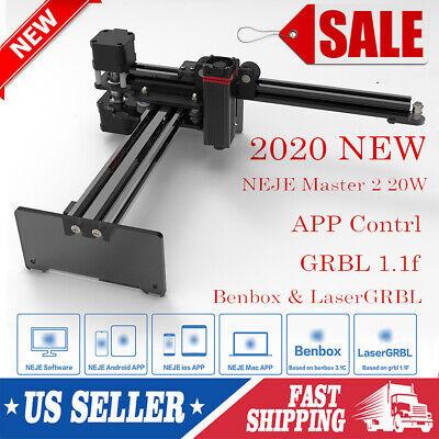 Neje Master 2 20w Cnc Engraving Milling Machine Engraver Cutter Printer Us A5v0