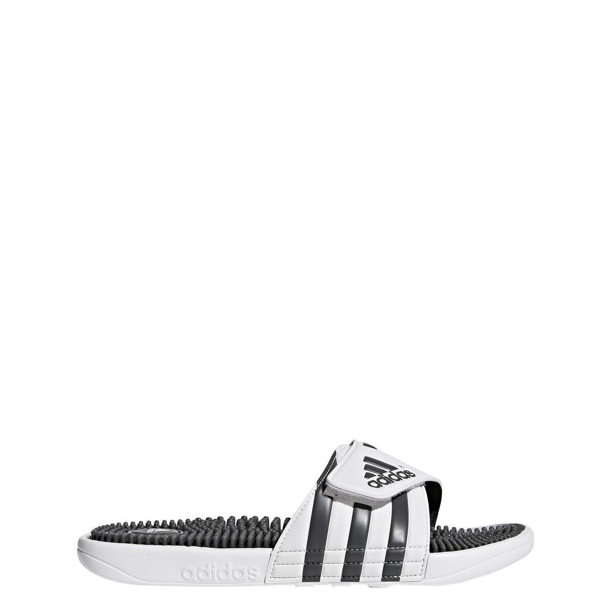 Mens Adidas Adissage White Slides Shower Athletic Sport Sand