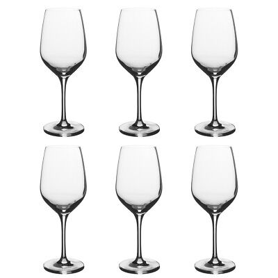 Wine Stem - Stolzle Eclipse Set of 6 Wine Glasses German Crystal Wine Glasses Stemmed Clear
