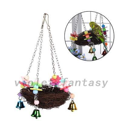 Parrot Pet Bird Swing Hanging Chew Toys Parakeet Cockatiel Nest Hammock -