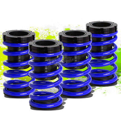 """FOR 01-05 CIVIC EM2 ES FRONT+REAR RACING COILOVER 1-3""""LOWERING COIL SPRING BLUE"""