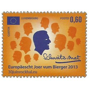 Luxembourg-2013-European-Year-Of-Citizens-Politics-Sc-1348-MNH