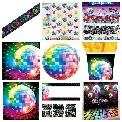 70's Disco Fever Themed Birthday Party Plates Cups Napkins Table cloth banner  - 70's Theme Party Clothes