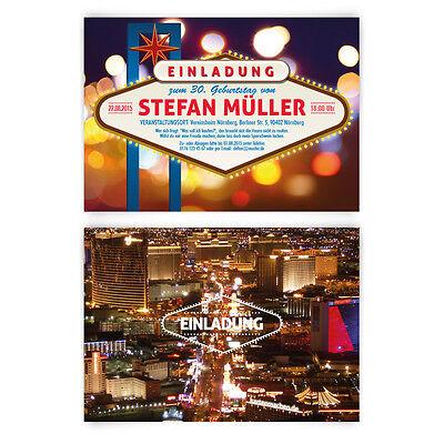 Geburtstag Las Vegas Poker Roulett Casino Stadt bei Nacht (Casino Einladungen)