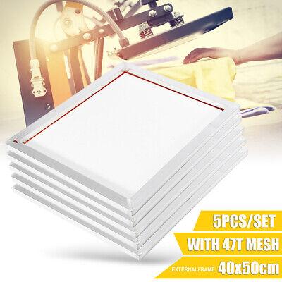 5pack 16x20 Aluminum Silk Printing Screen Frame 47t Mesh White Screens Tool
