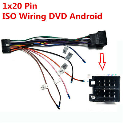 1x20 Pin ISO Stereo Harness Connector Adapter For Car ISO Wiring DVD Android