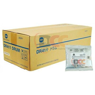 Dr411 Dv411 Developer - Drum Set For Bizhub 223 283 363 423