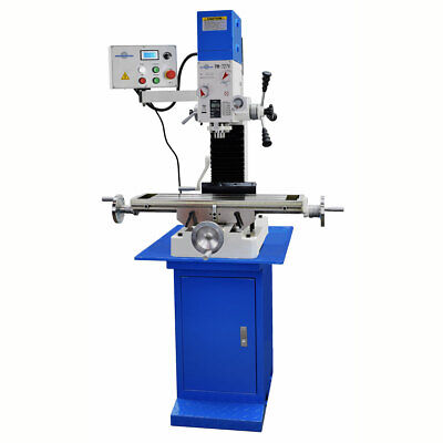 Pm-727v Vertical Bench Top Milling Machine Wstand Variable Speed Free Shipping