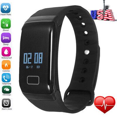 Sports Blood Pressure Oxygen Heart Rate Fitness Smart Watch Wrist Band Bracelet