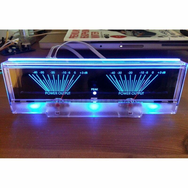 Power Amplifier Panel Dual Analog VU Meter Audio Level dB Meter With BackLit Hot