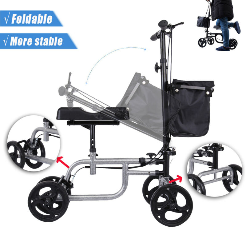 Upgrade Medical Steerable Leg Knee Walker Scooter Crutch Alt