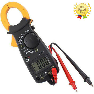 Electronic Digital Clamp Multimeter Ac Dc Volt Voltage Amp Ohm Tester Meter