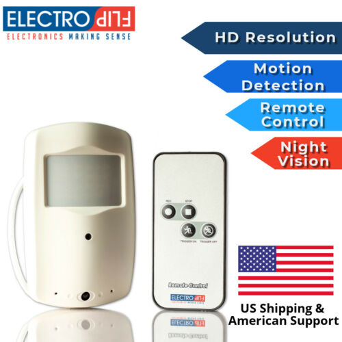 Spy Nanny Hidden PIR Motion Detector Sensor HD Camera AUDIO