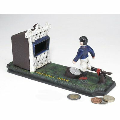 SP1635 - Old-Fashioned Footballer Authentic Foundry Iron Mechanical Bank