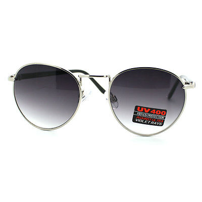 Unique Vintage Sunglasses Small Round Frame for Men and Women New SILVER