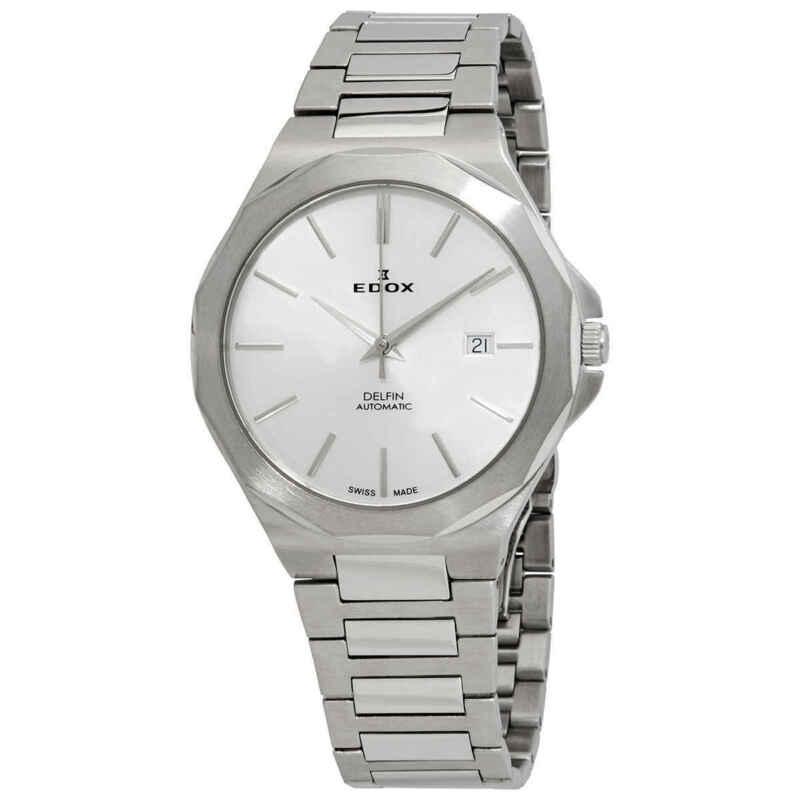 Edox Delfin Automatic Silver Dial Men Watch 80117 3M AIN
