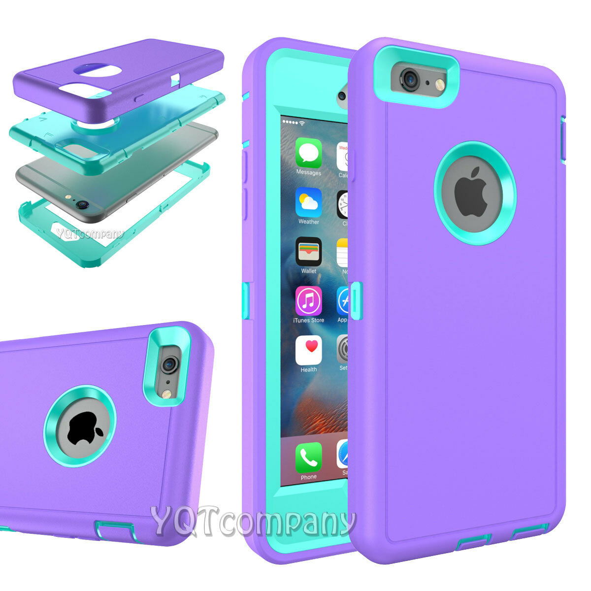 Hard Back ShockProof Slim Hybrid Phone Case Cover iPhone 5s 6 6s Plus Protector