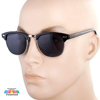 Klassisch Club Master Polarisiert Stil Halber Rahmen Sonnenbrille Vintage H