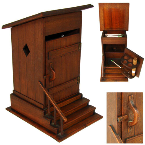 Delightful Antique French Carved Wood Smoker