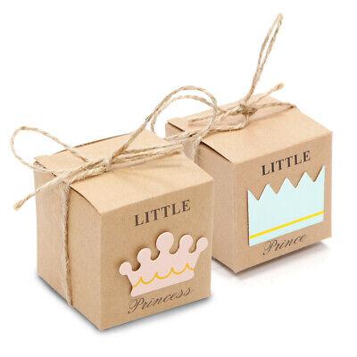20/50tlg Prinz/Prinzessin bonboniere Geschenkbox Hochzeit Baby Shower Party Deko