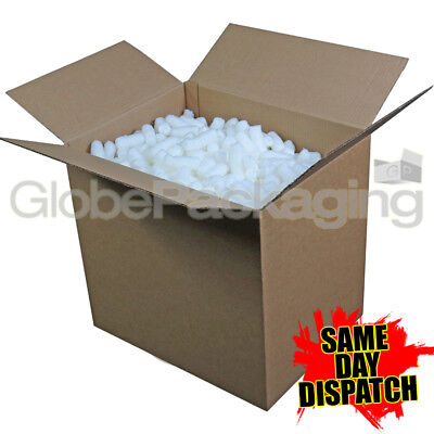 1.5 Cubic Foot Box Of Ecoflo Biodegradable Loose Void Fill Packing Peanuts