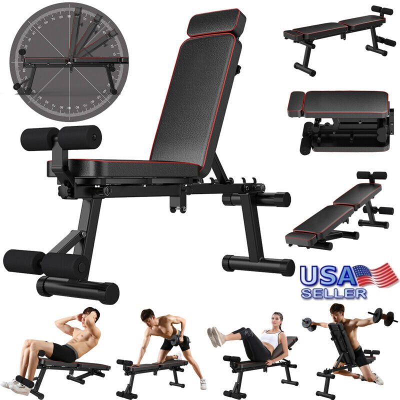 Adjustable Decline Bench Gym Incline Sit Up Slant Board AB F