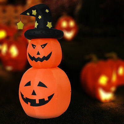6 FT Inflatable Halloween Rotatable Stack Pumpkin Decoration Lighted Air Blown