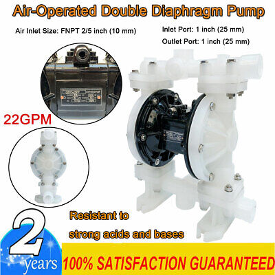 Air-operated Double Diaphragm Pump 1 Inlet Outlet Strong Acids Bases 22gpm