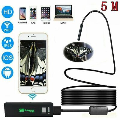 8 LED 1200P WiFi Endoscope IP68 Wireless Inspection HD Camera for iPhone Android