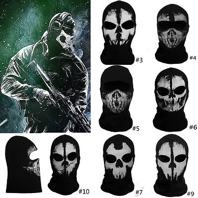 Maske For Call Of Duty 10 Ghost Sturmhauben Logan Schädel Hood Biker Kostüm Mask (Call Of Duty Ghost Kostüm)