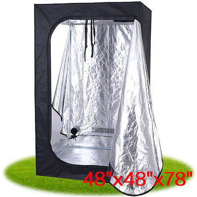 "48""x48""x78"" Indoor Grow Tent Room Reflective Mylar Hydroponic Non Toxic Hut New"