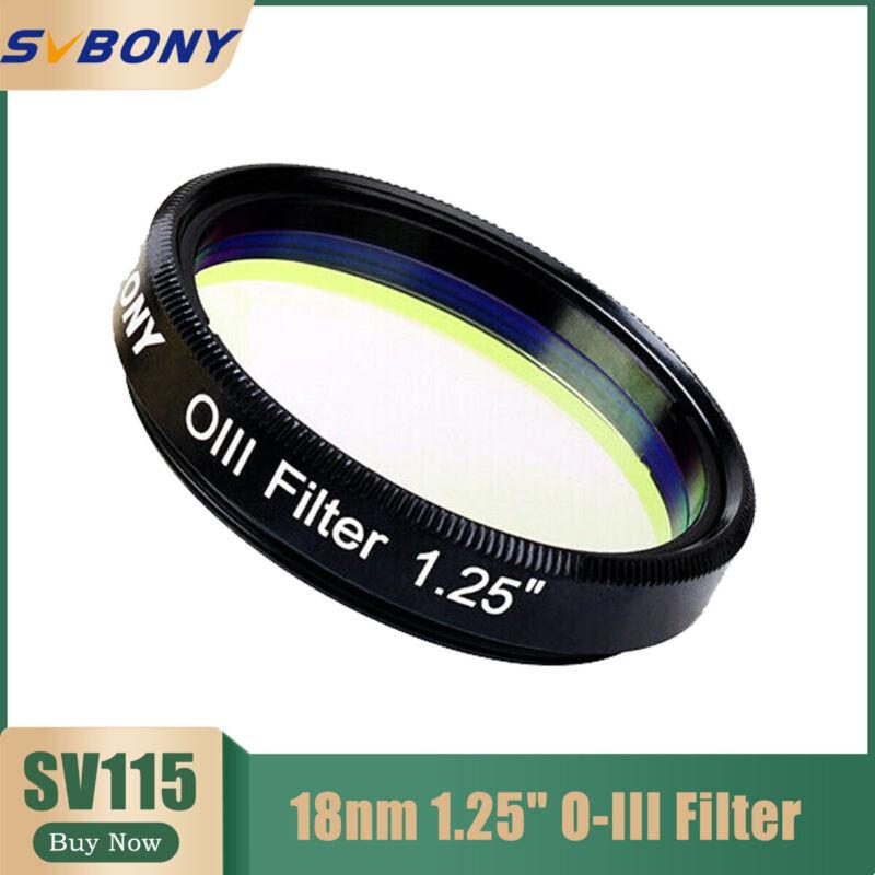 "SVBONY SV115 18nm 1.25"" O-III Filters Narrowband Cuts Light Pollution Filter"