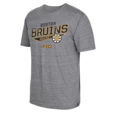 NEW NHL CCM HOCKEY BOSTON BRUINS NO MERCY DISTRESSED T SHIRT-MULTIPLE -