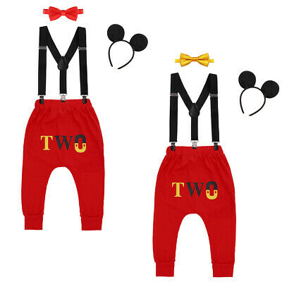 Costume For Baby Boy (Cake Smash Outfits Fancy Dress up Costume for Baby Boy 2nd Birthday Mickey)