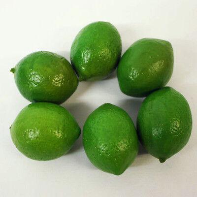 6pcs Artificial Limes Lemons Fake Fruit Realistic Imitation Home Decor Wedding