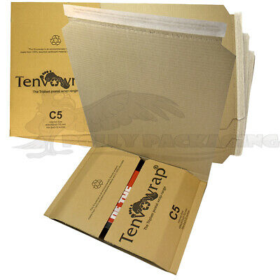 5 x BOOK WRAP C5 Amazon Style 406x302x(0-70mm) POSTAL BOXES Posting Packaging