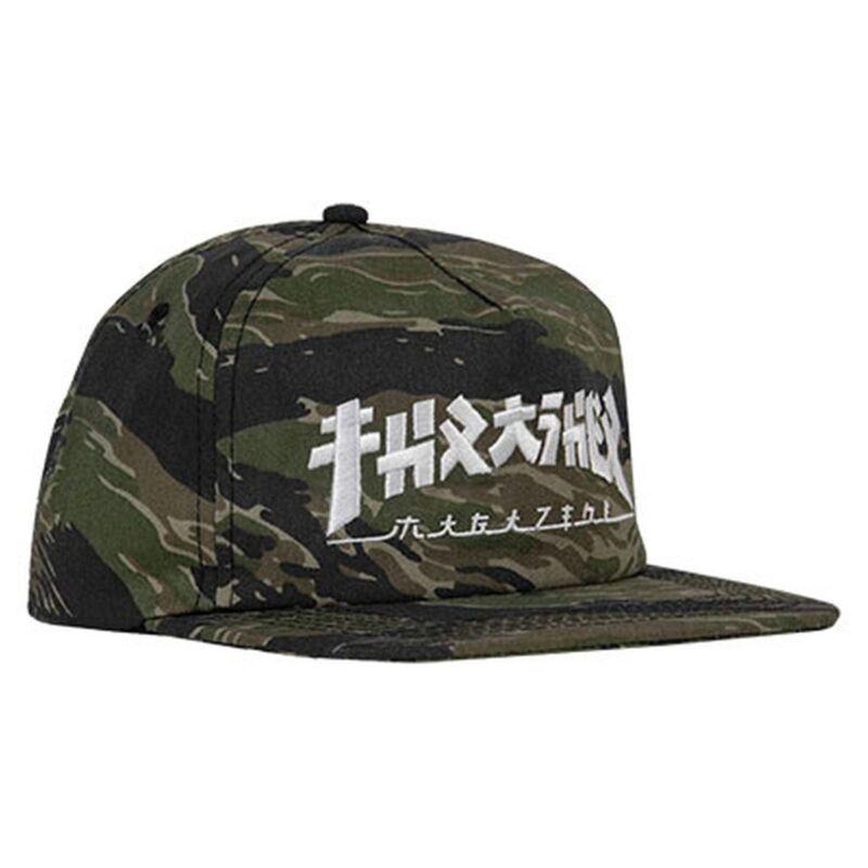 Thrasher Magazine GODZILLA UNSTRUCTURED Snapback Skateboard Hat TIGER CAMO