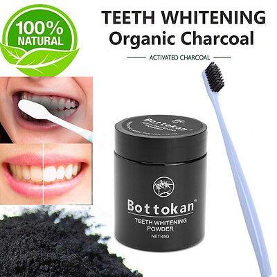 Naturale Carbone Attivo Denti Sbiancante Sbiancamento Polvere Spazzolino denti