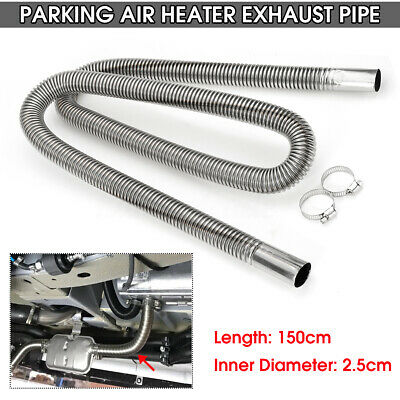 1.5M Stainless Steel Exhaust Pipe Hose Parking Air Heater Tank Diesel Gas UK