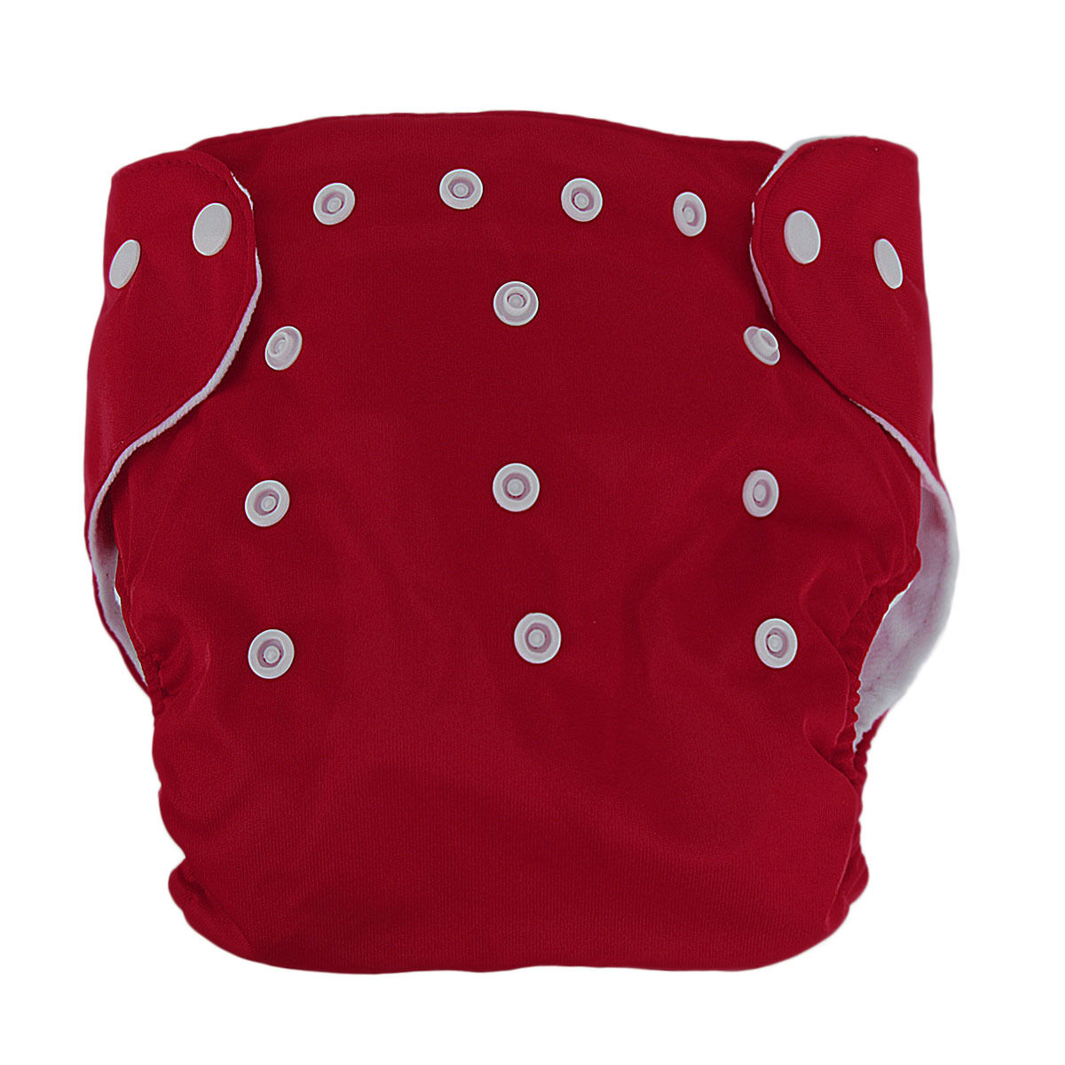 5pcs+ 5Inserts Adjustable Reusable Baby Washable Infant Nappy Soft Cloth Diapers Red
