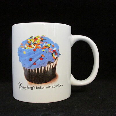 coffee mug cup Everything is better with SPRINKLES cupcake microwave