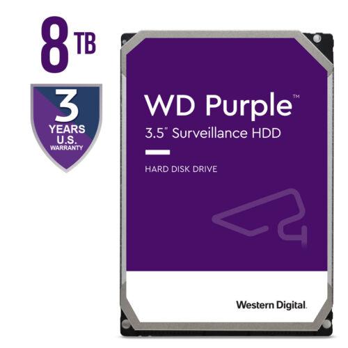 "WD Purple 8TB Western Digital Surveillance HDD Internal 7200 RPM 3.5"" WD82PURZ"