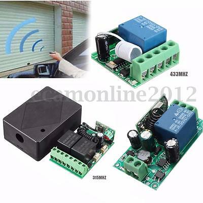 1-2 CH DC12V AC220V Wireless RF Remote Control Receiver Relay Switch 315/433MHz