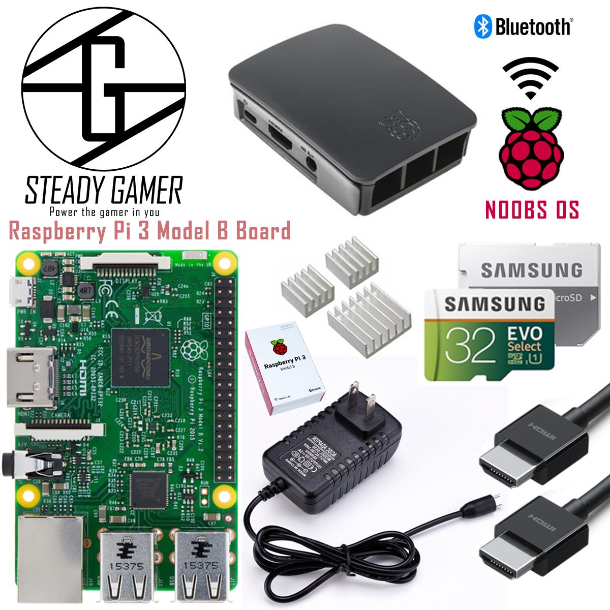 Starter Kit Raspberry Pi 3 B - 32GB - Free Shipping - Steady Gamer