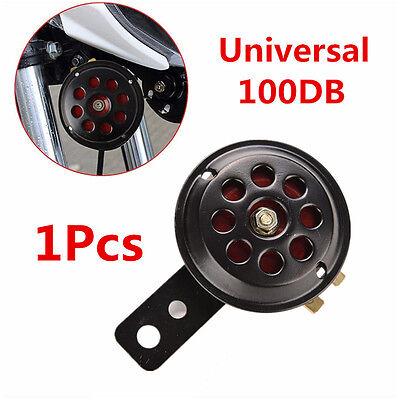1pcs 12V 100db Metal Black & Red Motorcycle Car Truck Waterproof Electric Horn